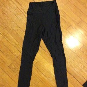 American apparel black high waisted shinny legging